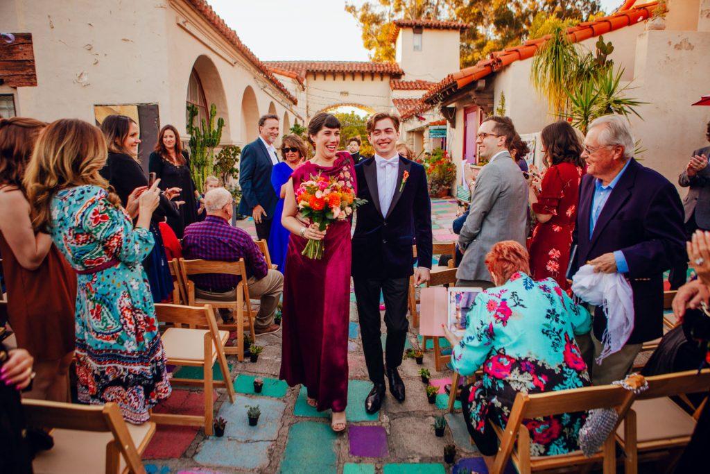 The Spanish Village Art Center wedding