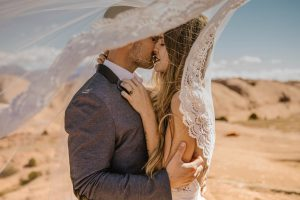 san diego wedding photographer - couple in desert photography