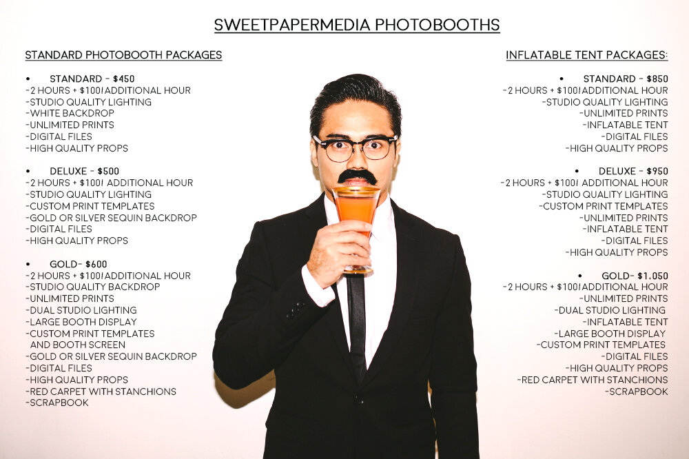 San Diego wedding photo booth rates