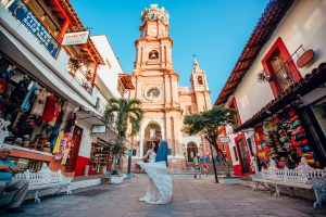 Our Lady of Guadalupe Church in Downtown Puerto Vallarta wedding